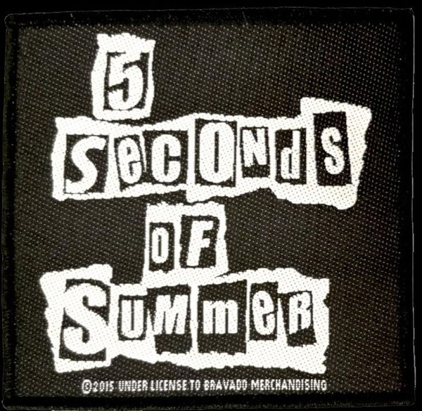 5 Seconds of Summer-Ripped Logo-Offiziell Patch