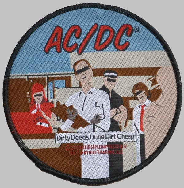 AC/DC-Dirty Deeds-Patch-Aufnäher-Rock-Metal-Offiziell Patch