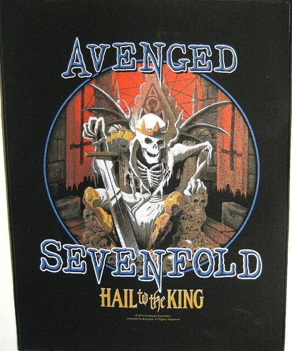 Avenged Sevenfold Hail To The King-Rückenaufnäher-Backpatch