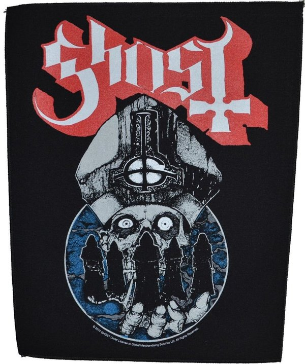Ghost Papa Warriors-Rückenaufnäher-Backpatch