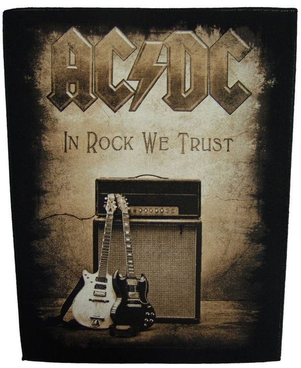 AC/DC In Rock We Trust-Rückenaufnäher-Backpatch