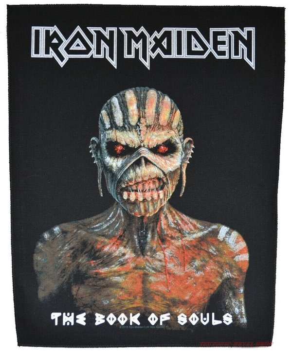 Iron Maiden The Book of Souls rückenaufnäher-Backpatch