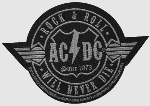 AC/DC RocknRoll will never Die (Cutout) Aufnäher Patch