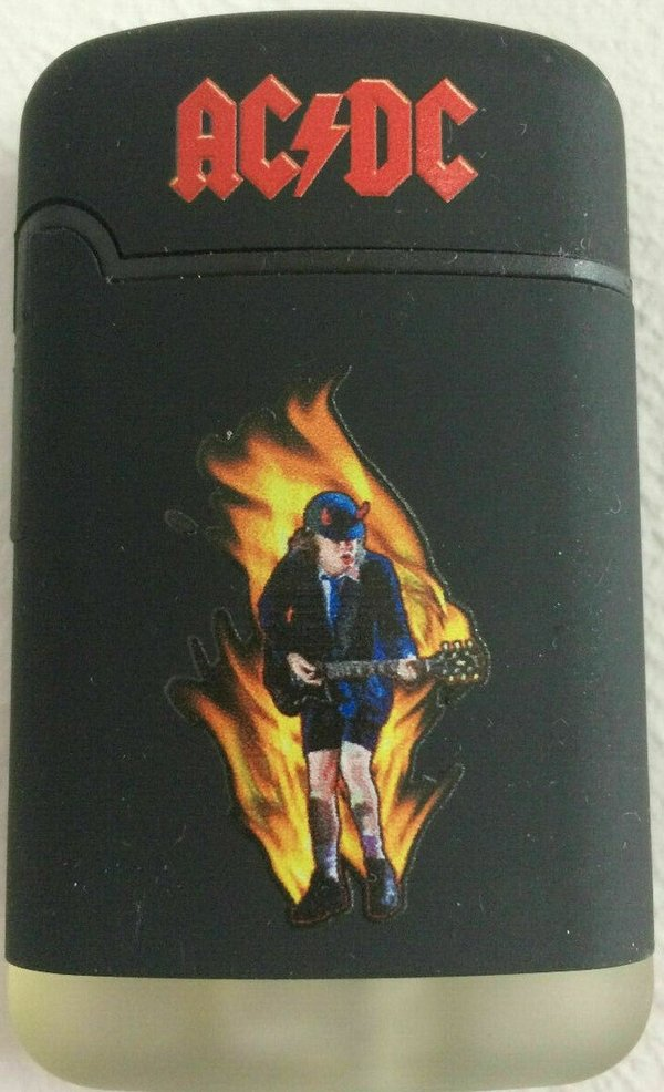 AC/DC Angus on fire Easy Torch Feuerzeug