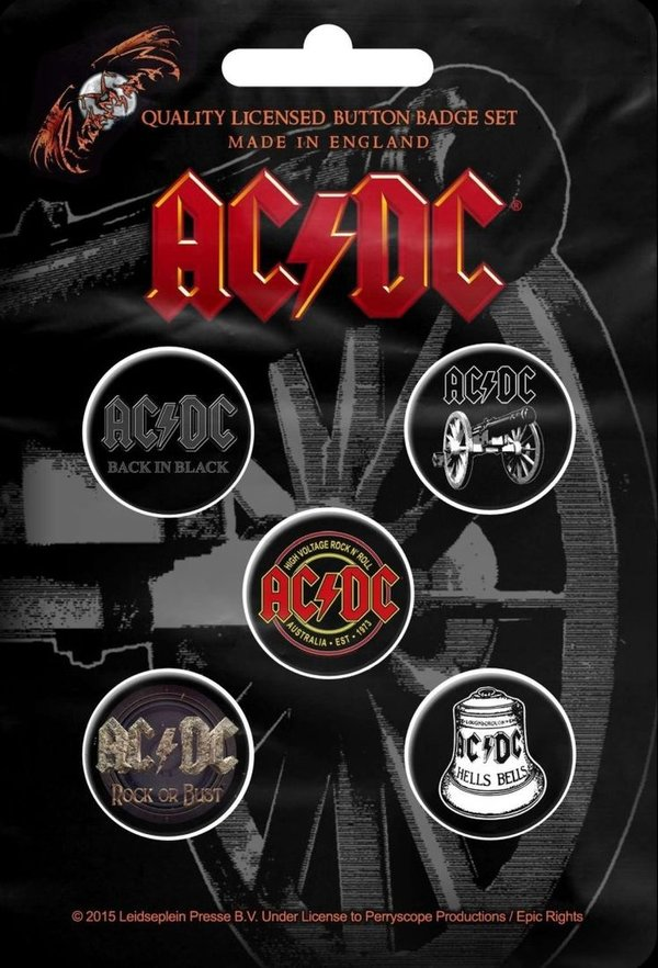 AC/DC For Those About To Rock Button Pack- Set