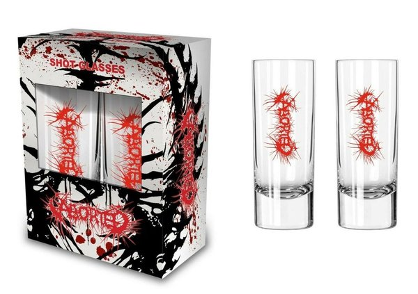 Aborted-Logo Shotglas Schnapsglas NEU & OFFICIAL!