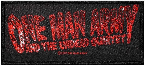 One Man Army And The Undead Quartet Logo Aufnäher Patch