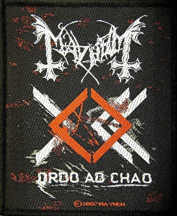 Mayhem Ordo Ad Chao  Aufnäher Patch
