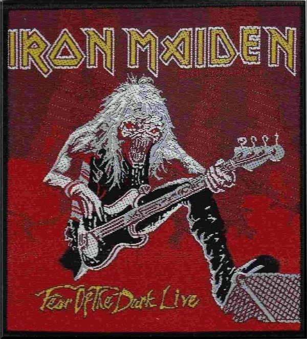Iron Maiden Fear Of The Dark Live Aufnäher