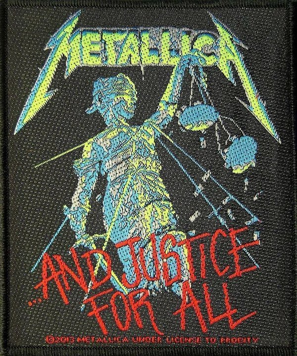 Metallica And Justice For All Aufnäher