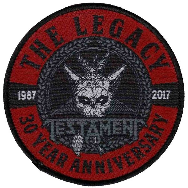 Testament The Leagcy 30 Year Anniversary Aufnäher  Patch