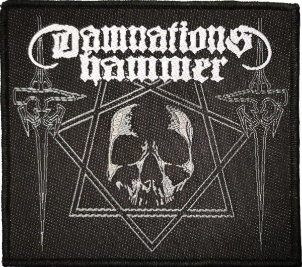 Damnation's Hammer Hammers and Skull Aufnäher