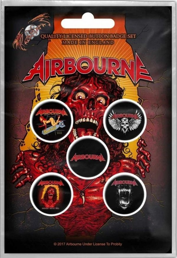 Airbourne Breakin' Outta Hell Button Pack