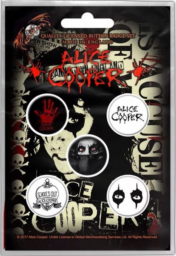 Alice Cooper Button Pack