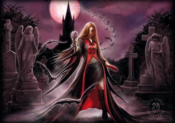Anne Stokes Blood Moon Posterfahne