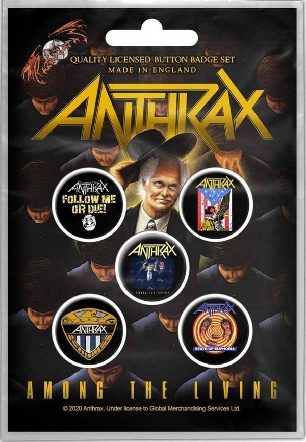 Anthrax Among the Living Button Pack