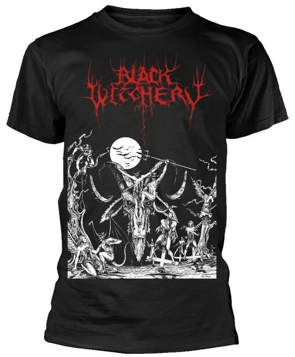 Black Witchery Upheaval Of Satanic Might T Shirt