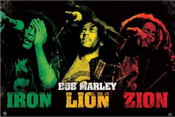Bob Marley Iron Lion Zion Maxi Poster