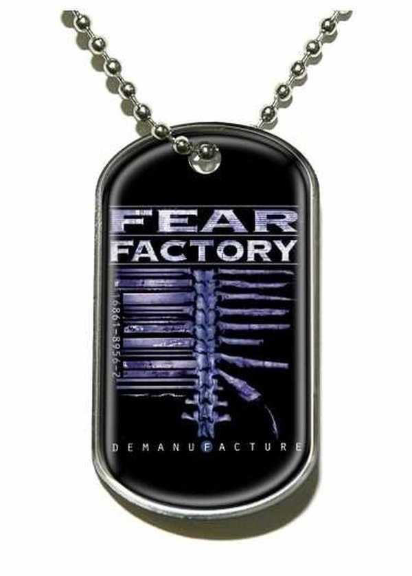 Fear Factory Demanufacture Dog Tag