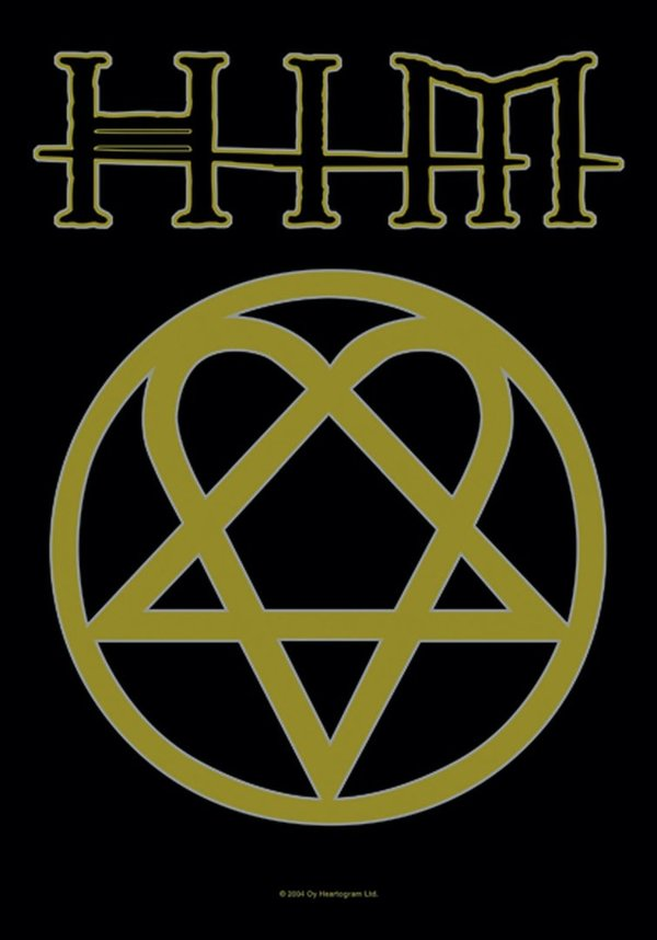 Him Heartagram Posterfahne