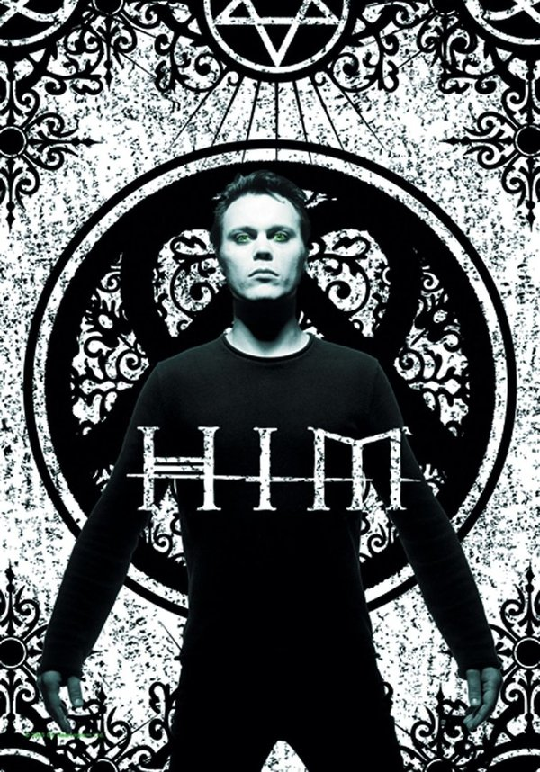 Him Ville Valo Green Eyes Posterfahne