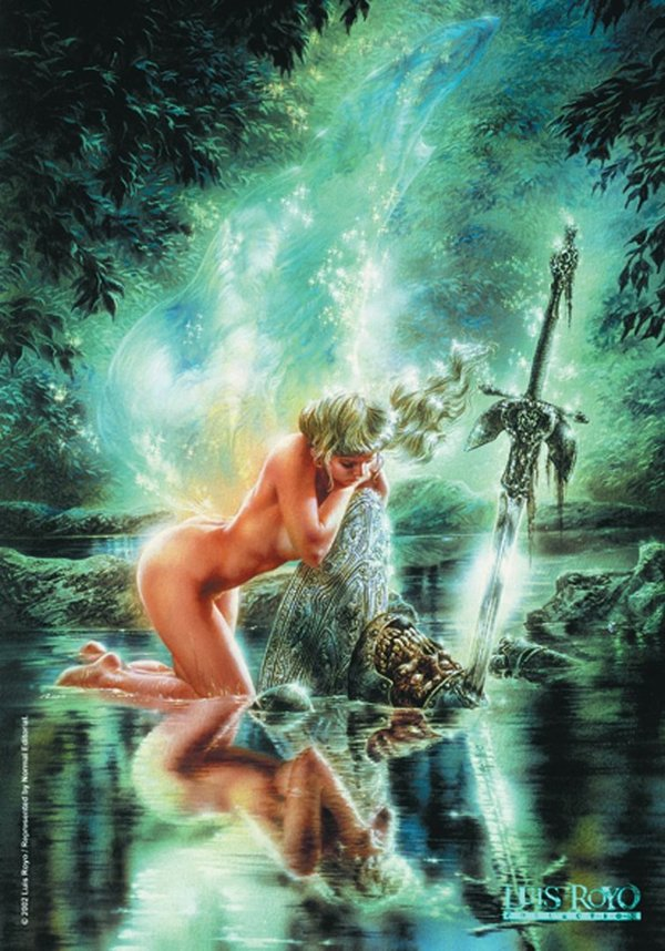 Luis Royo water level Posterfahne