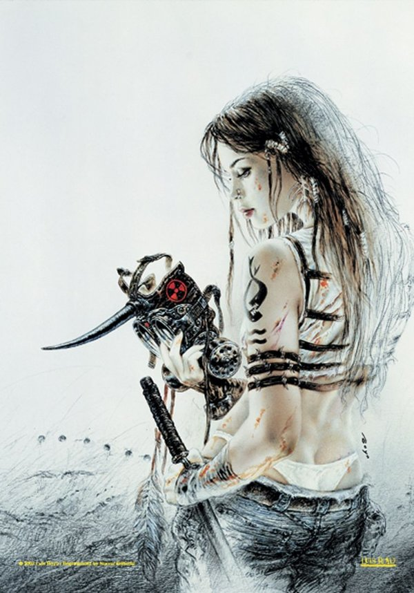 Luis Royo Prohibited Book Posterfahne