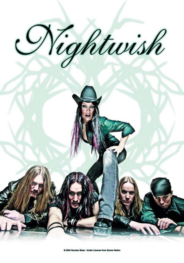 Nightwish Once white Posterfahne