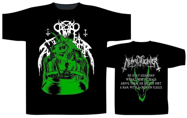 Nunslaughter - Green Witch / He is My Guaridan T-Shirt