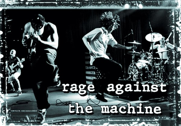 Rage Against The Machine - Poster Fahne on stage