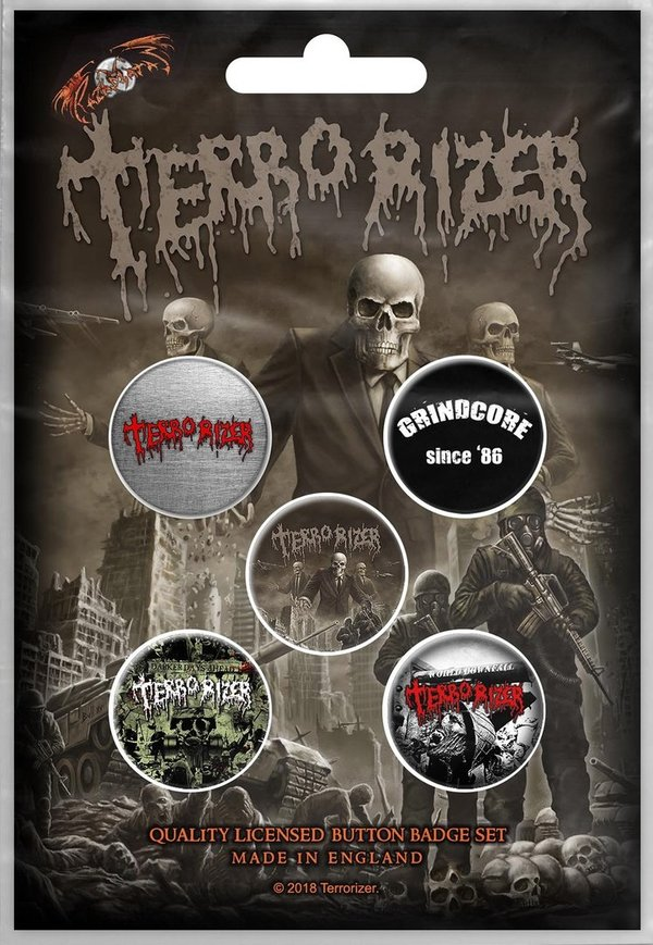 Terrorizer Caustic Attack- Button Set
