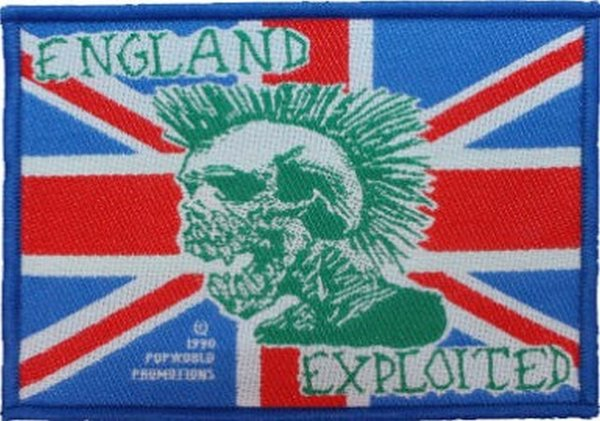 The Exploited England Exploited- Aufnäher Patch