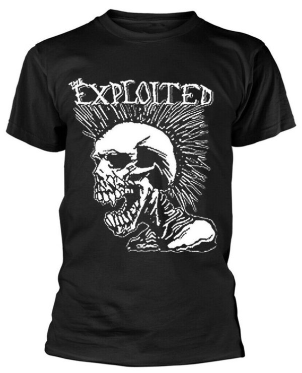 The Exploited Mohican Skull T- Shirt