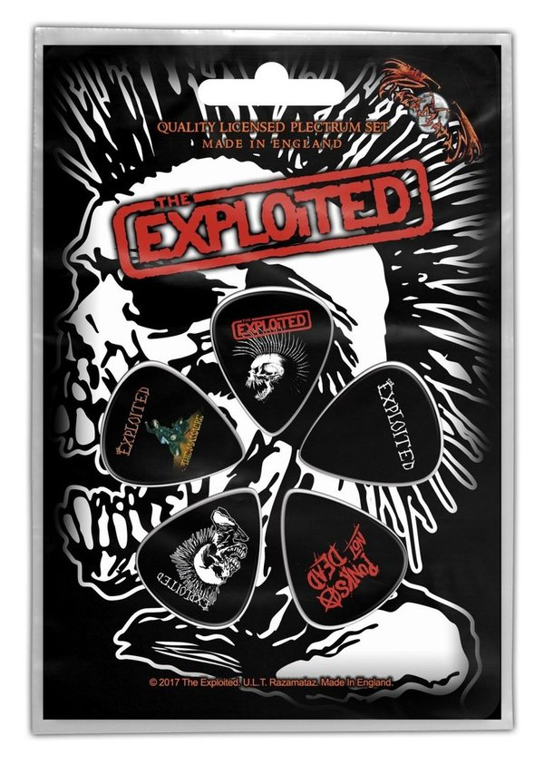 The Exploited Skull- Plektrum Pack