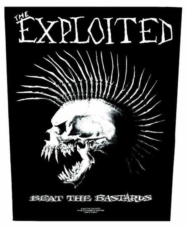 The Exploited Beat The Bastards Rückenaufnäher