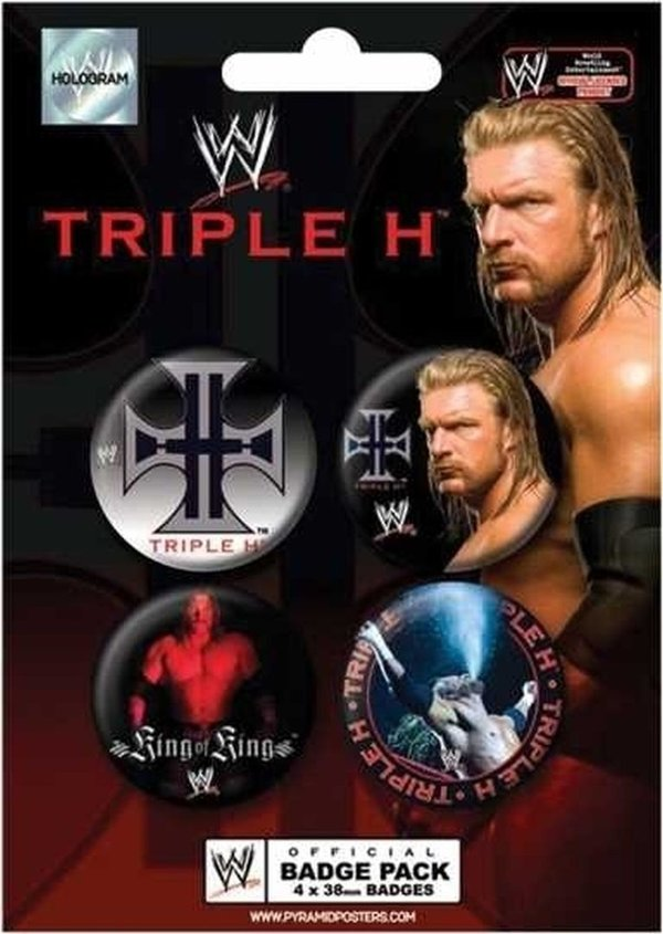 Triple H- WWE Button Pack