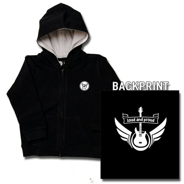 loud and proud Baby Kapuzenjacke Zipper
