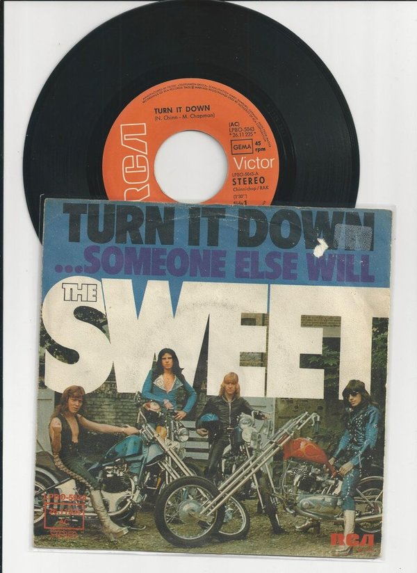 "The Sweet-Turn It Down Vinyl, 7"", 45 RPM, Single, Stereo"