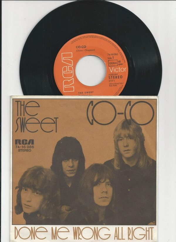 "The Sweet Co-Co Vinyl,7"",45 RPM,Single Glam Rock D 1971"
