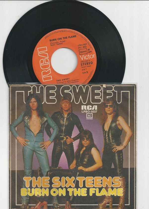 "The Sweet ‎The Six Teens Vinyl,7"",45 RPM,Single Glam Rock D 1974"