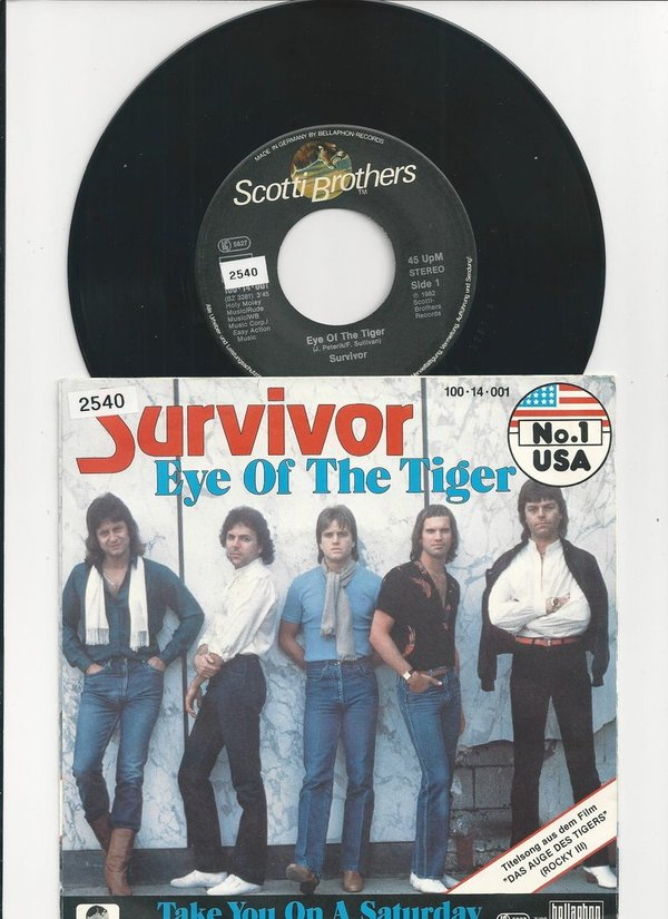 "Survivor-Eye Of The Tiger-Vinyl,7"",Single,45 RPM"